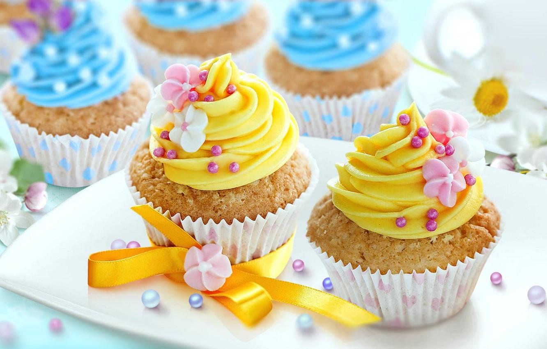 Photo wallpaper food, decoration, cream, sweet, cupcakes