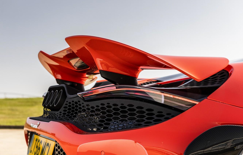 Photo wallpaper McLaren, wing, feed, 2020, 765LT