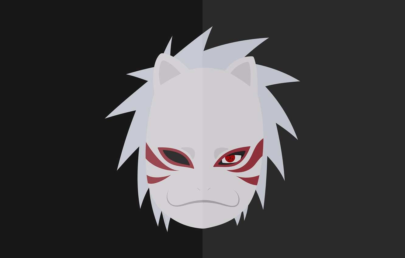 Wallpaper Minimalism Mask Naruto Kakashi Hatake The Anbu