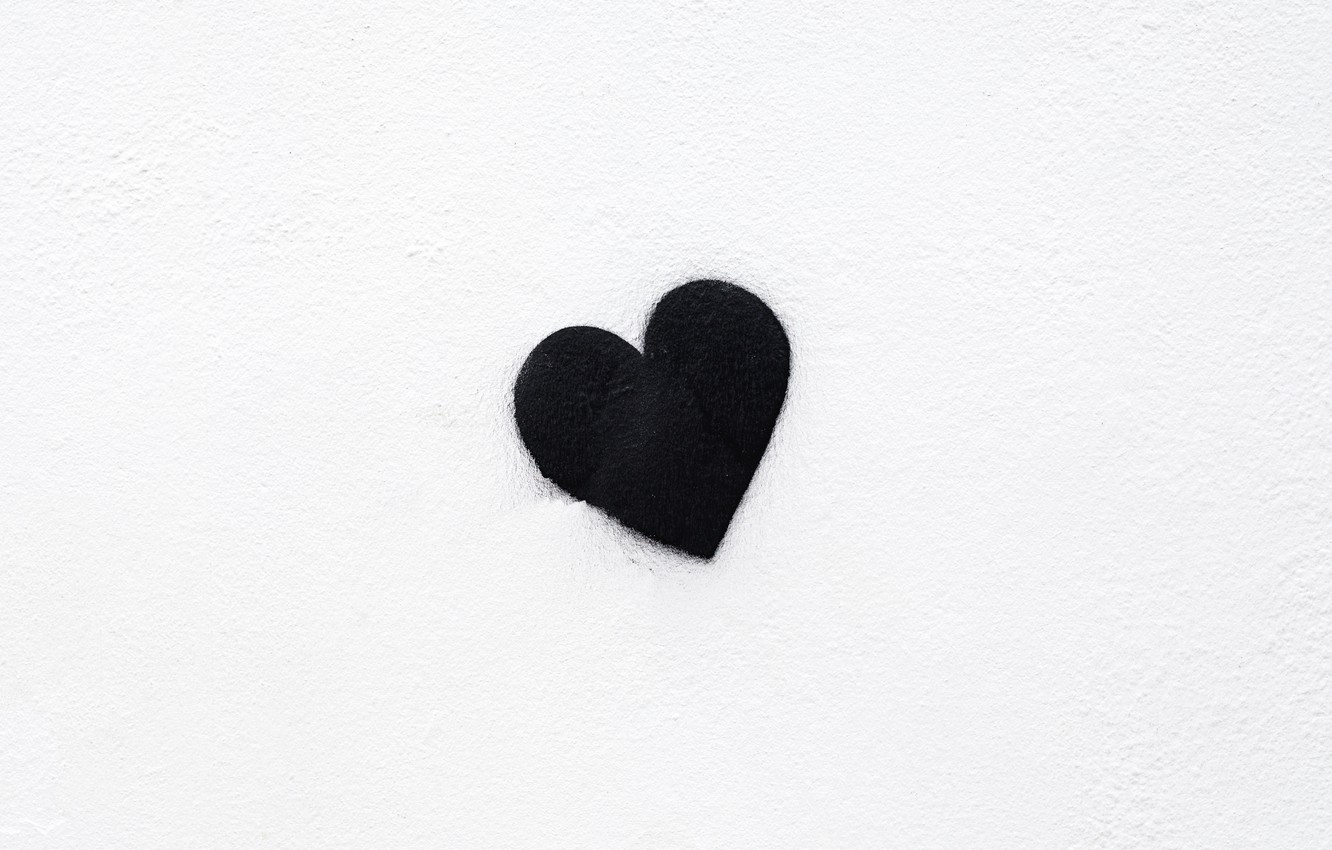 Photo wallpaper background, black, heart, minimalism, black, minimalism, heart, background