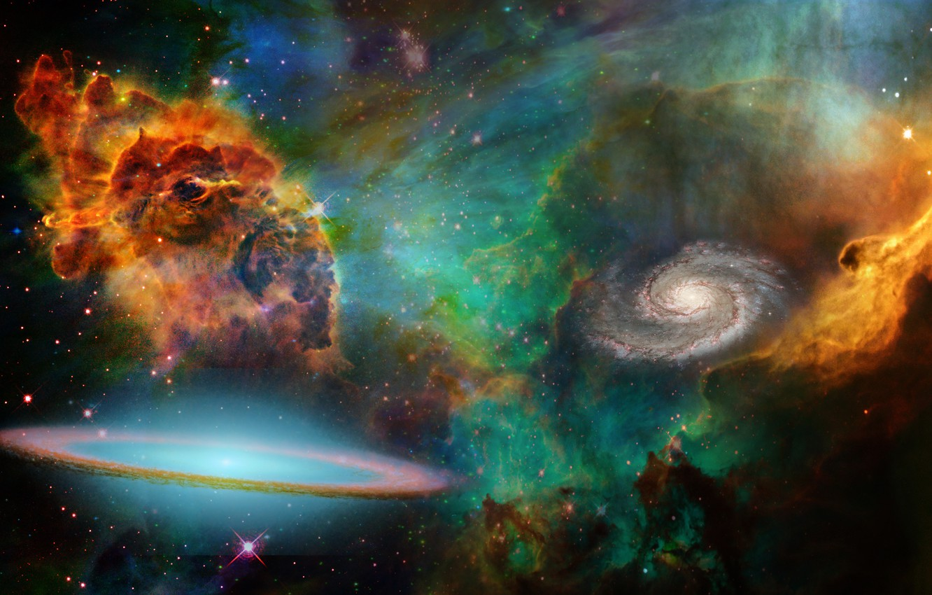Wallpaper Colors Cosmos Collage Images For Desktop Section