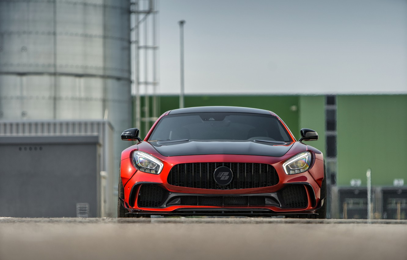 Photo wallpaper Mercedes-Benz, front view, AMG, 2018, Prior Design, GT S, PD700GTR