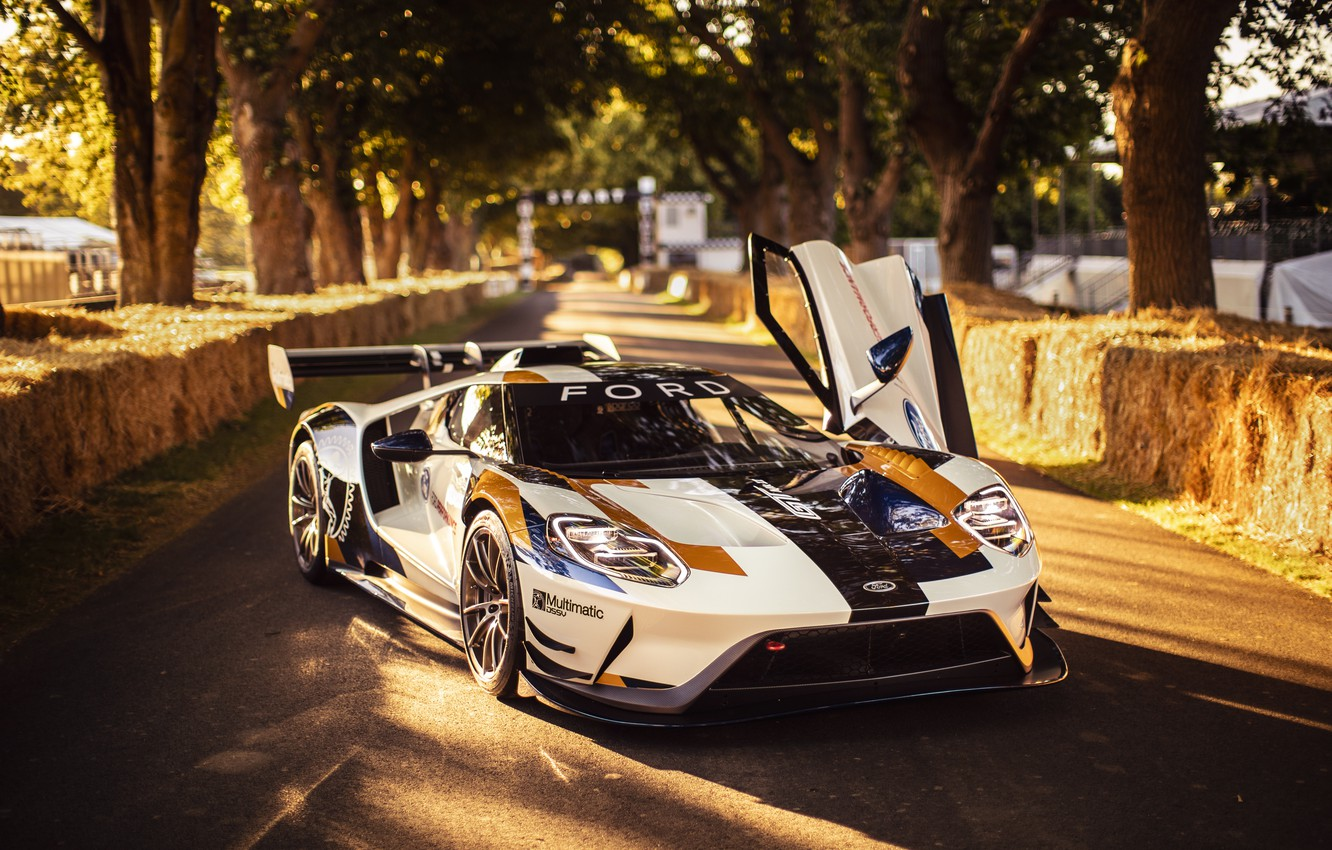 Photo wallpaper Ford, Trees, door, Ford GT, sports car, Mk II
