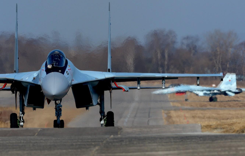 Photo wallpaper fighter, Su-35, super-maneuverable, Sukhoi, WFP