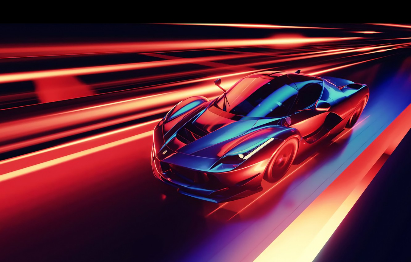 Photo wallpaper Car, Speed, Abstraction