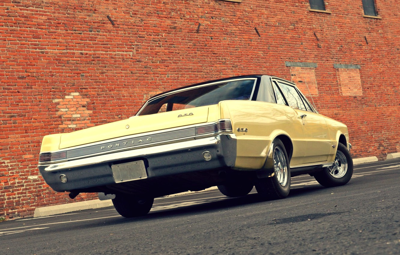 Photo wallpaper Muscle, Ass, Classic, Pontiac, GTO