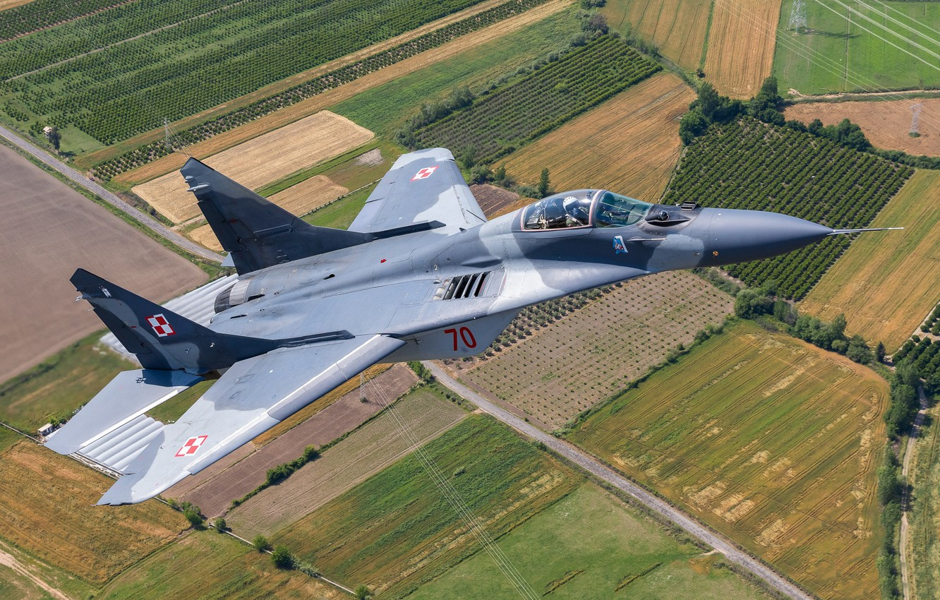 Photo wallpaper multi-role fighter, MiG-29A, Polish air force