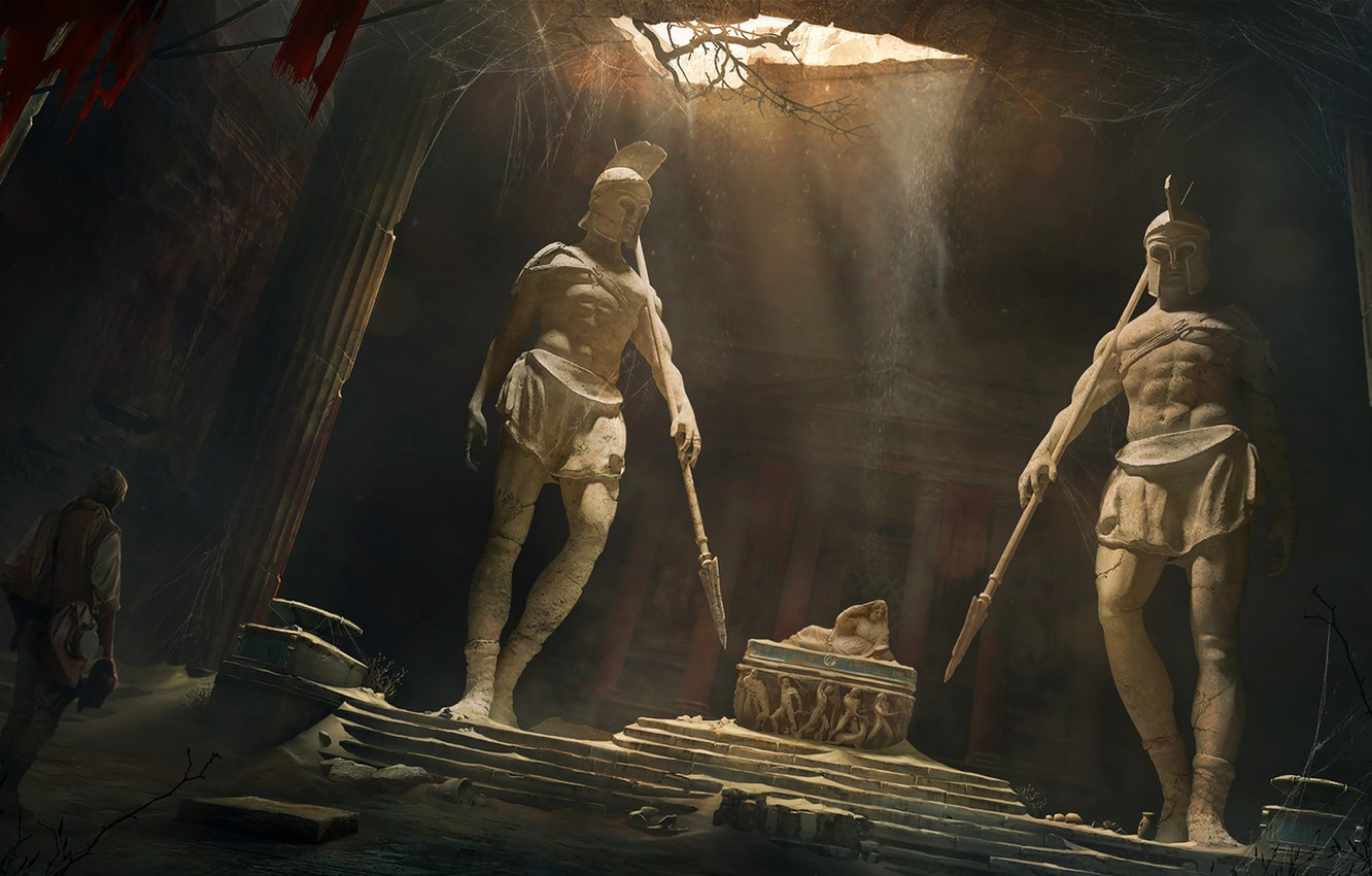 Photo wallpaper antique, Vladimir Manyukhin, the lost tomb, The lost tomb