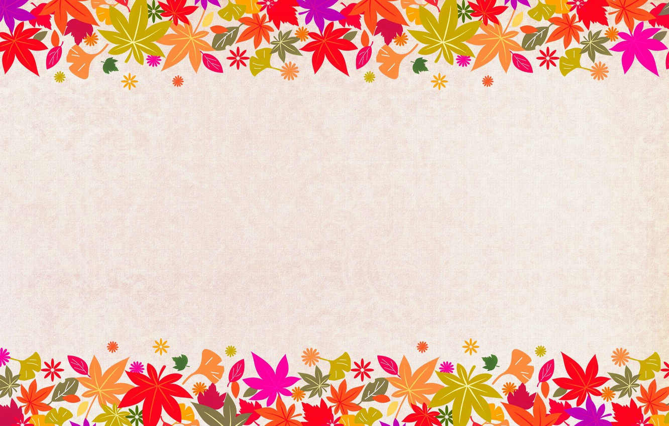 Photo wallpaper leaves, canvas, postcard, template, blank