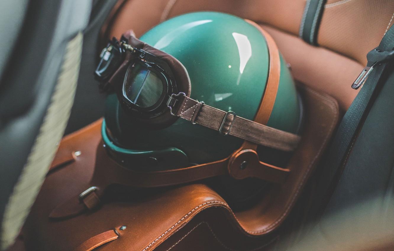 Photo wallpaper Aston Martin, Glasses, Green, Helmet, 2019, DBS 59