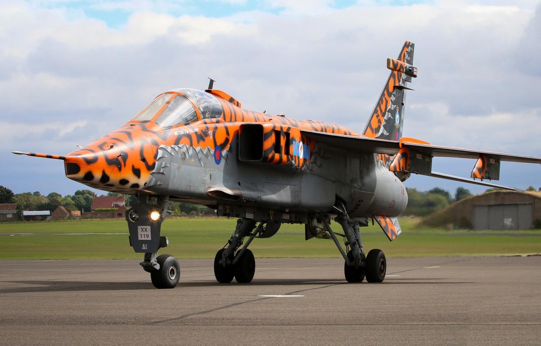 Photo wallpaper Jaguar, Fighter-bomber, RAF, Sepecat Jaguar, Sepecat Jaguar GR3A