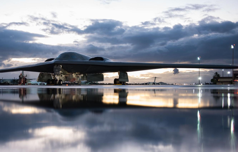 Wallpaper UNITED STATES AIR FORCE, B-2 Spirit, Northrop Grumman