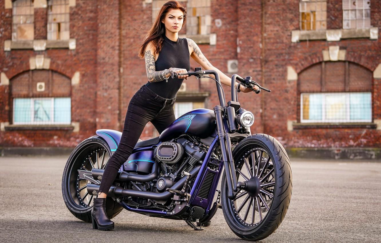 Wallpaper Girl Harley Davidson Tatoo Harley Davidson