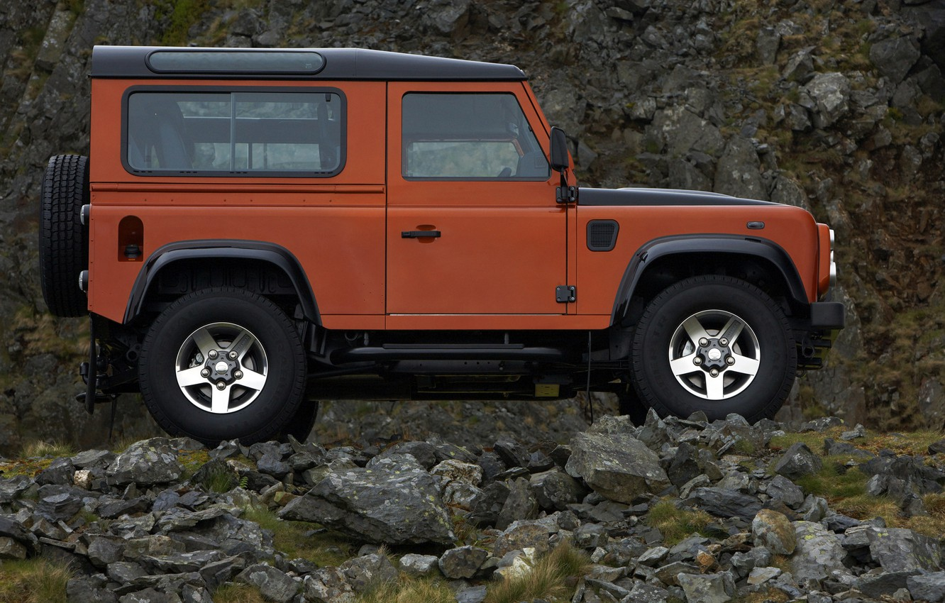 Photo wallpaper Land Rover, 2009, Defender, in profile, Limited Edition