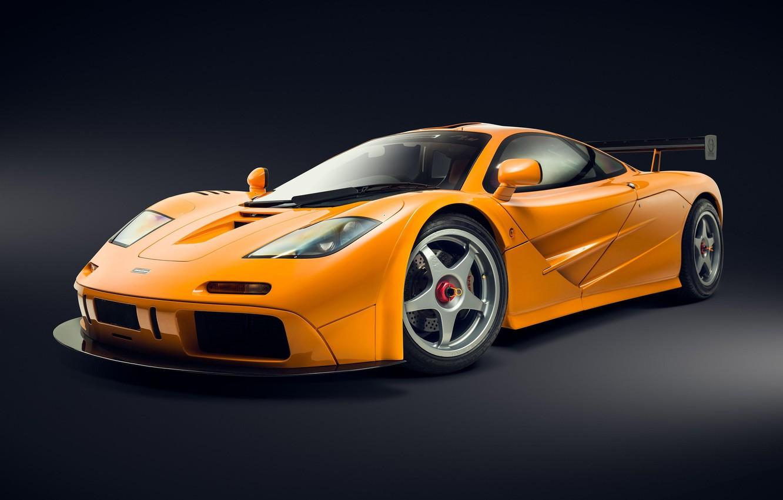 Photo wallpaper Orange, Supercar, 1995, McLaren F1 LM