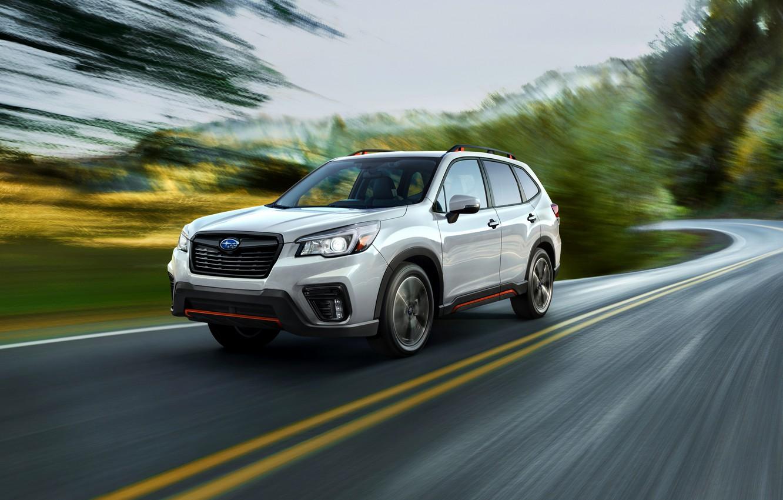 Photo wallpaper speed, blur, Subaru, crossover, Forester, 2019