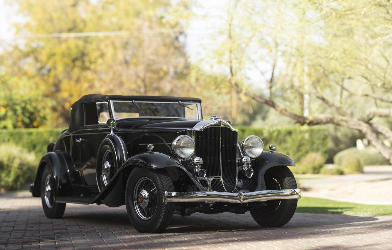 Photo wallpaper Car, Black, Retro, Packard 900