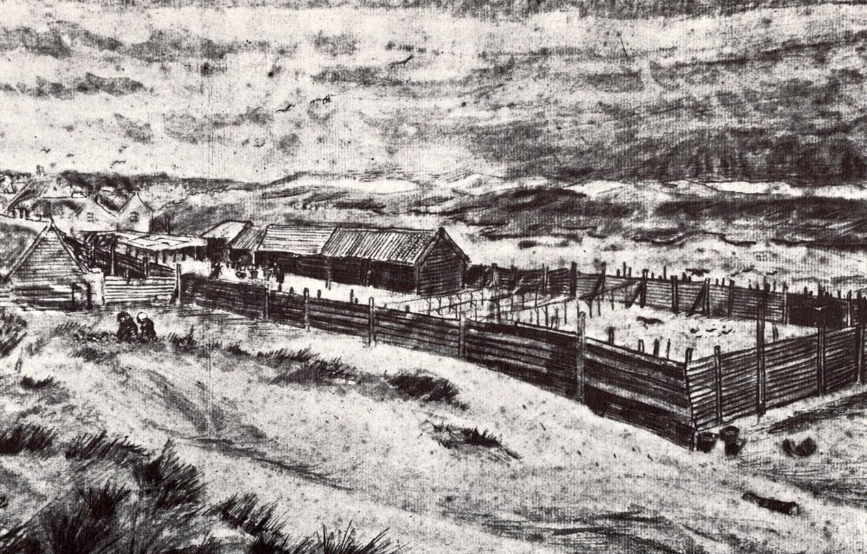 Photo wallpaper farm, Vincent van Gogh, Fish-Drying Barn 2