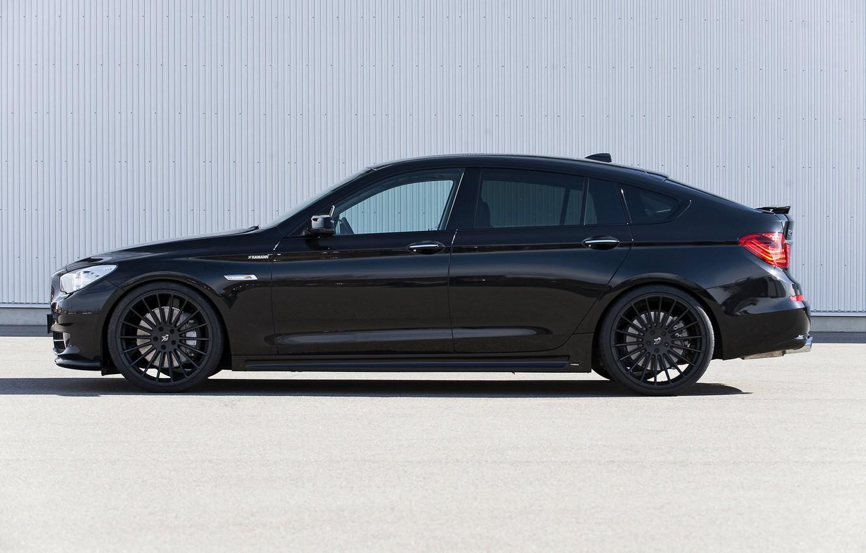 Photo wallpaper asphalt, wall, BMW, profile, Hamann, 2010, drives, Gran Turismo, 550i, 5, F07, 5-series, GT