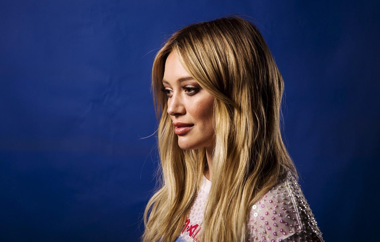Photo wallpaper look, girl, hair, Hilary Duff