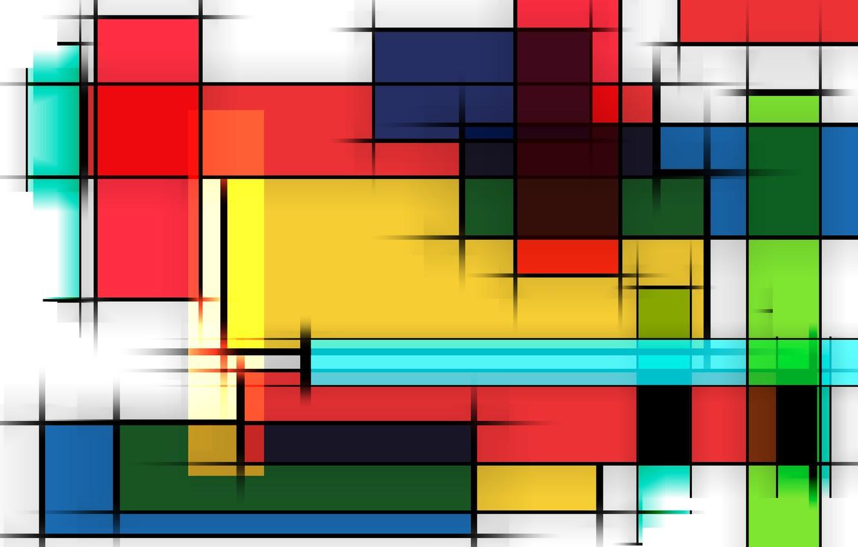 Photo wallpaper line, graphics, colorful