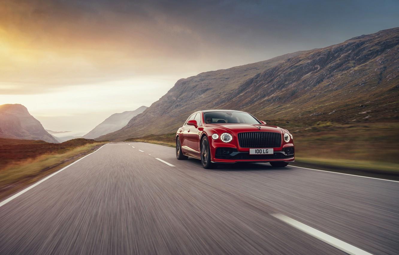 Photo wallpaper Bentley, sedan, Flying Spur, 2020, V8, 2021, Flying Spur V8