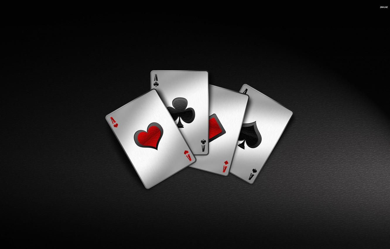 Photo wallpaper card, the game, 4 aces