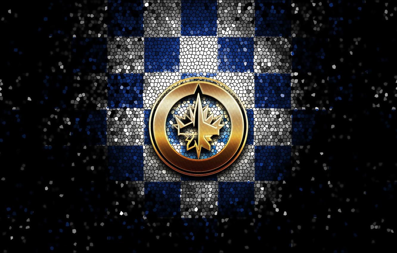 wallpaper sport logo nhl hockey glitter checkered winnipeg j
