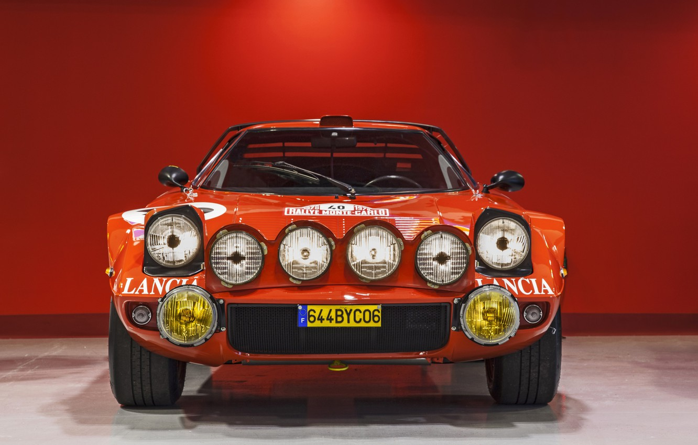 Photo wallpaper Red, Sportcar, Rally Car, Lancia Stratos