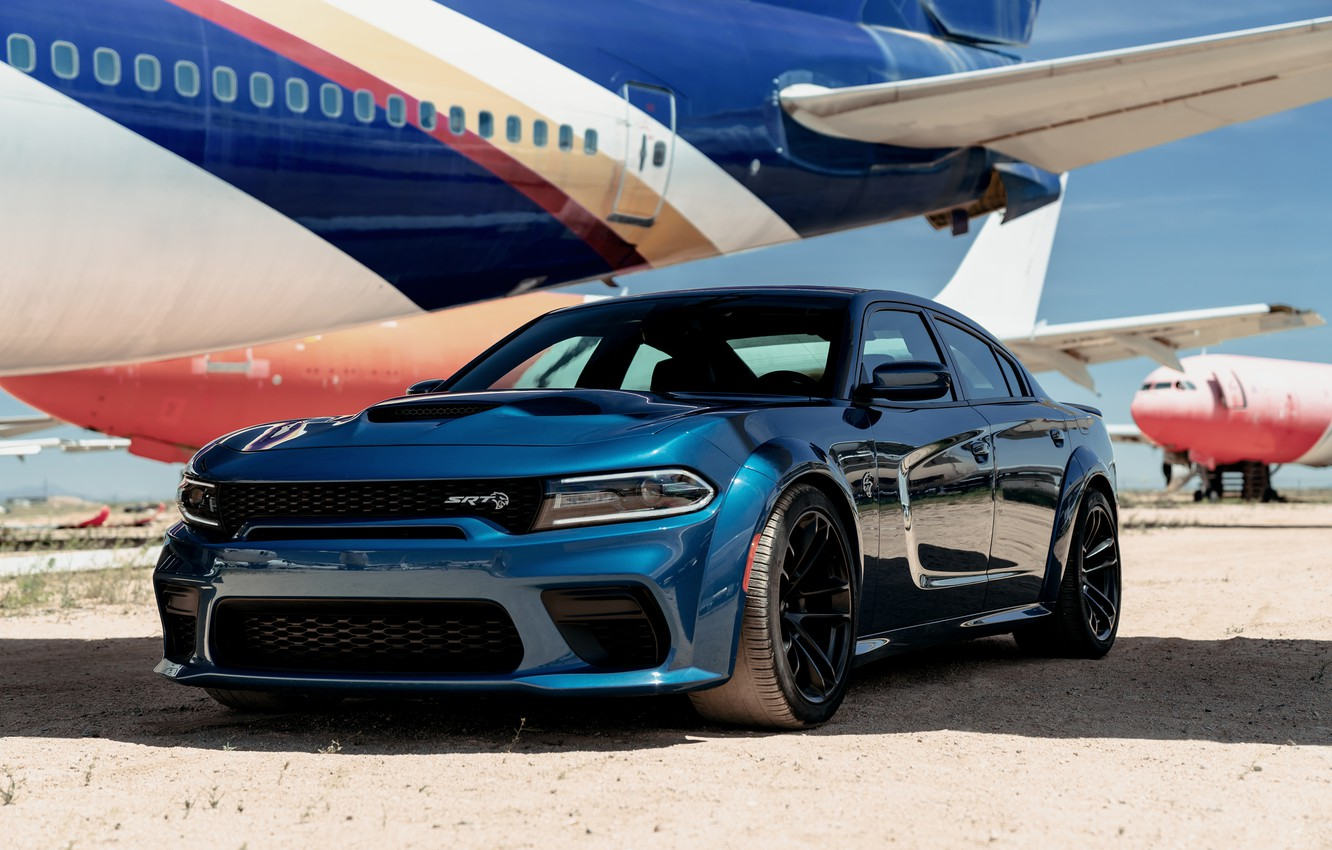Photo wallpaper The plane, Dodge, Charger, Hellcat, SRT, 2020, Dodge Charger SRT, Hellcat widebody
