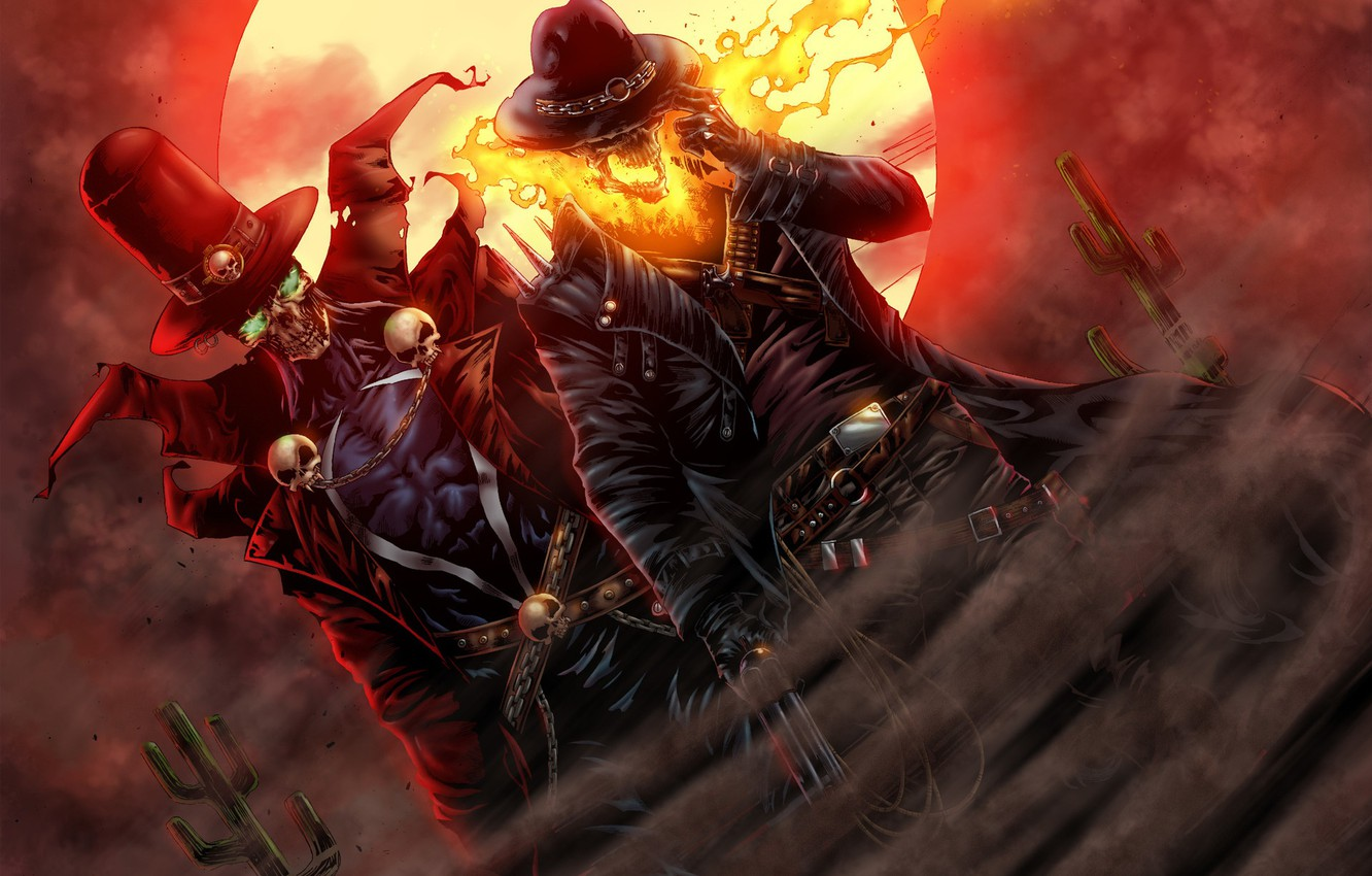 Wallpaper The Moon Fire Racer Hell Moon Comic Ghost
