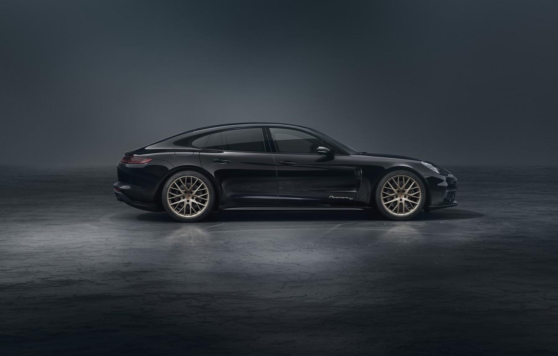 Photo wallpaper Porsche, Panamera, side view, 2019, 10 Year Edition