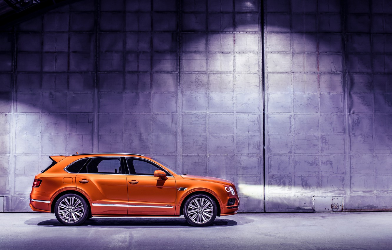 Photo wallpaper machine, light, lights, Bentley, optics, Speed, crossover, Bentayga