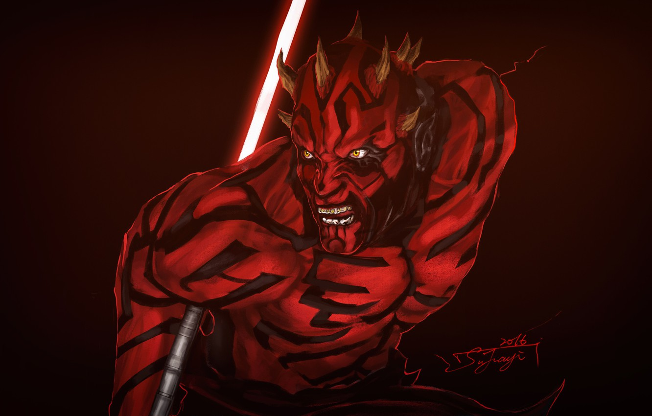 Wallpaper Figure Star Wars Dark Sword Darth Maul Dark Side
