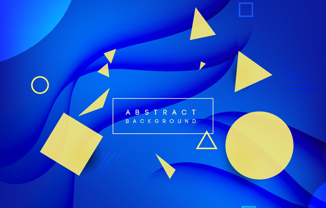 Wallpaper Blue Yellow Abstraction Abstract Background Geometric Geomerty Images For Desktop Section Abstrakcii Download