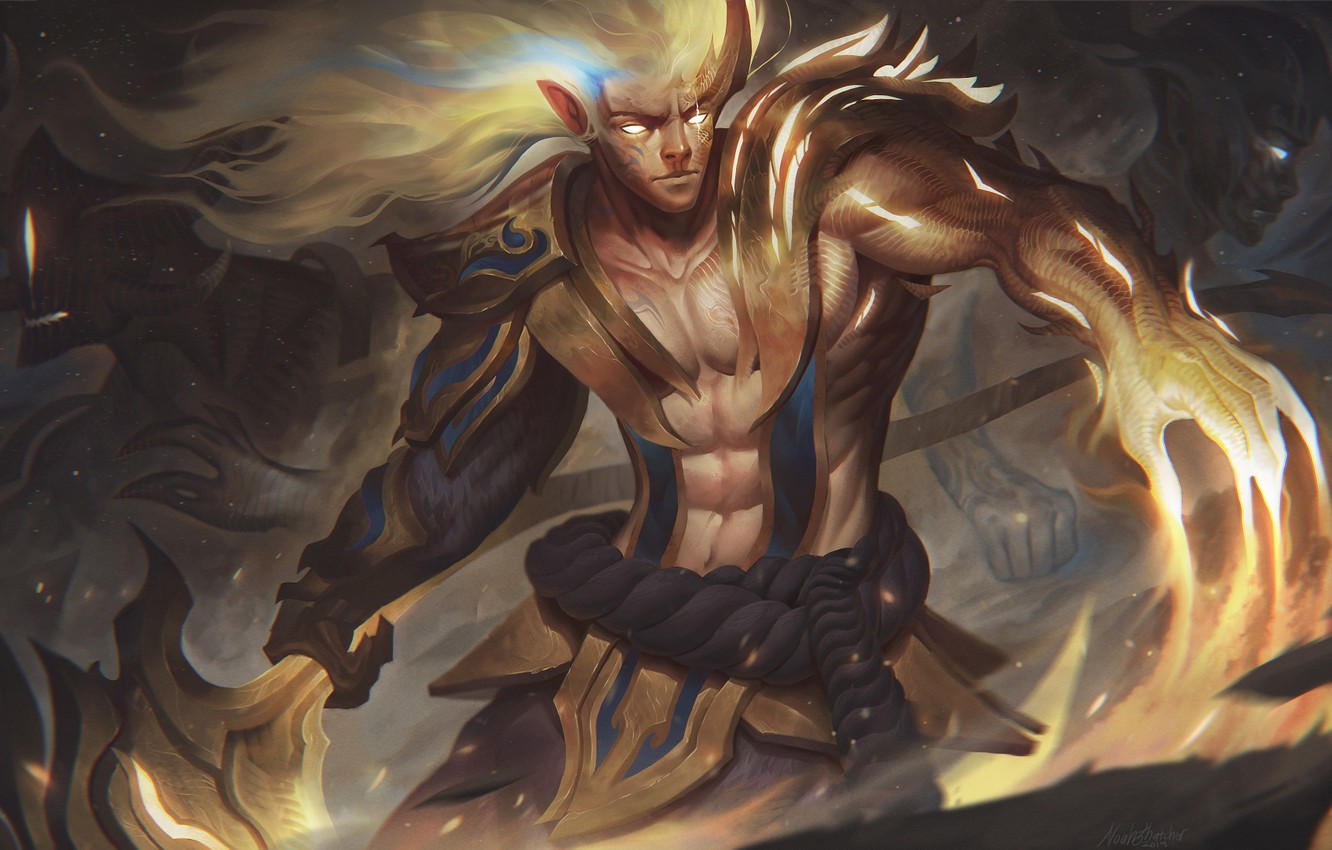 Wallpaper Being Guy League Of Legends Hot Springs Images For