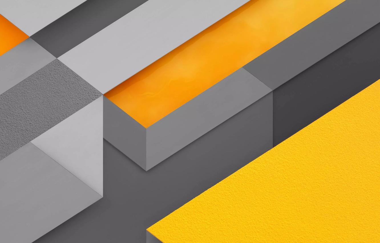 Photo wallpaper line, strip, yellow, grey, texture, figure, orange