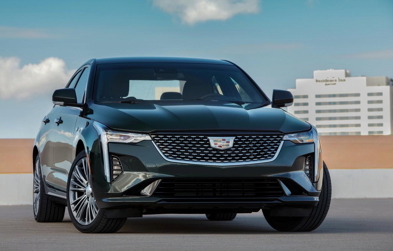 Photo wallpaper Cadillac, sedan, front, four-door, 2020, CT4