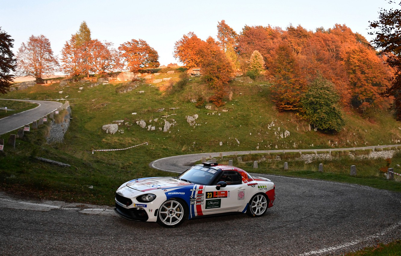 Photo wallpaper speed, rally, the rise, 2018, Abarth, 124 Rally
