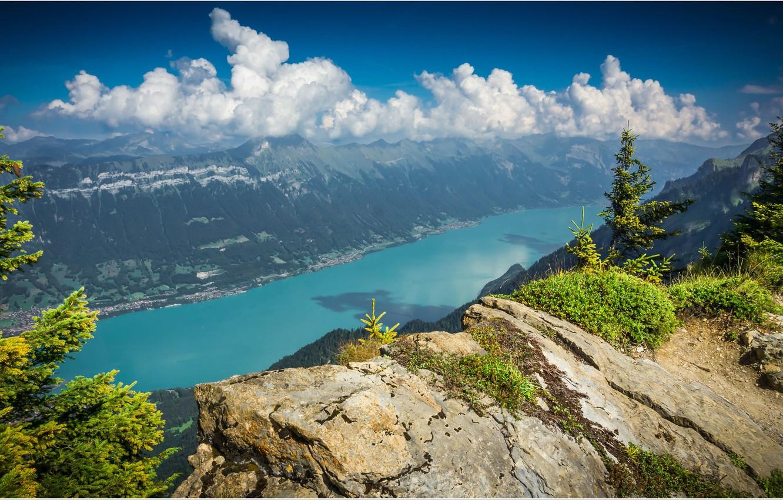 Photo wallpaper Switzerland, Lake Brienz, the Canton of Bern