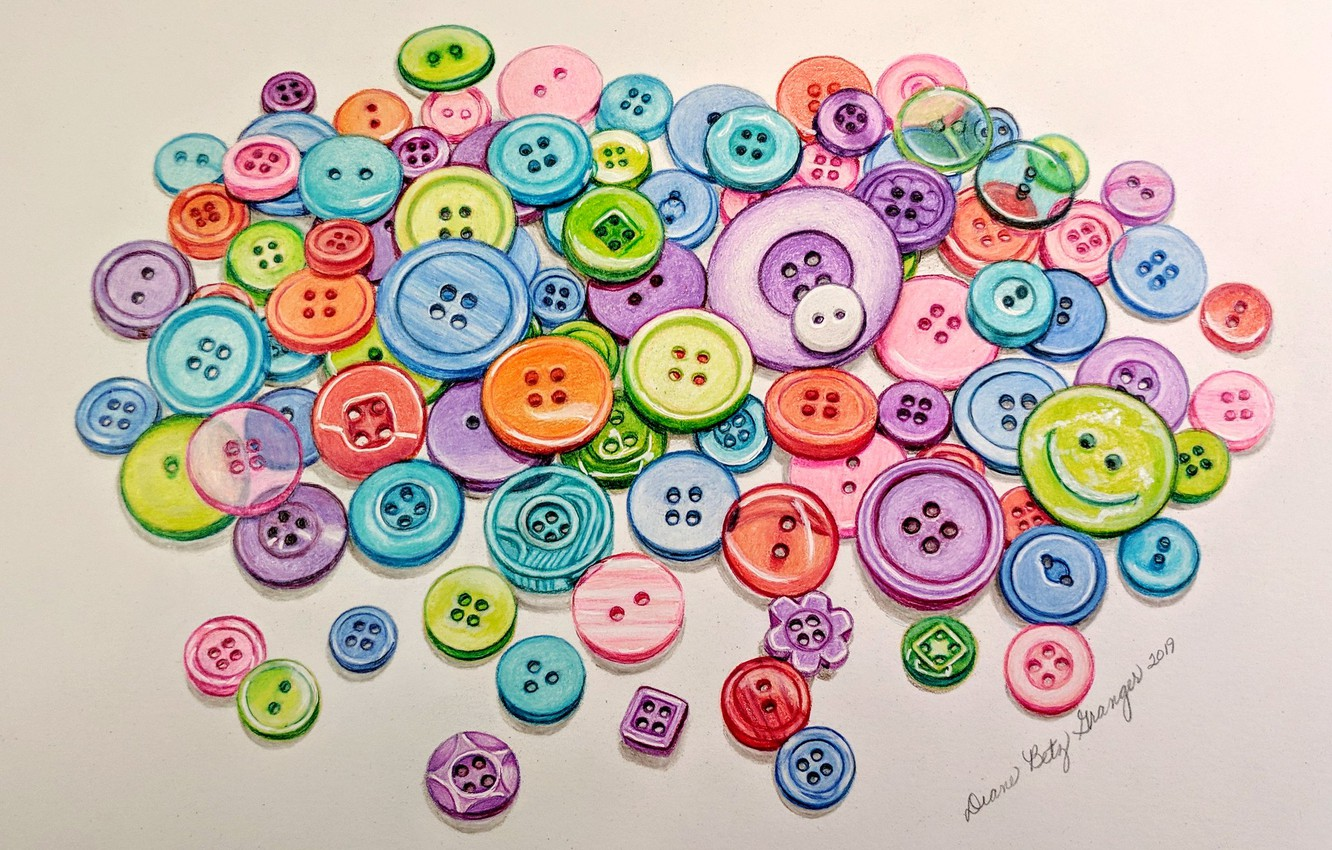 Photo wallpaper background, figure, buttons, painting