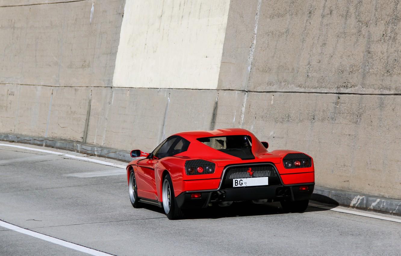 Photo wallpaper Red, Ferrari, Supercar, Supercar, Ferrari FZ93