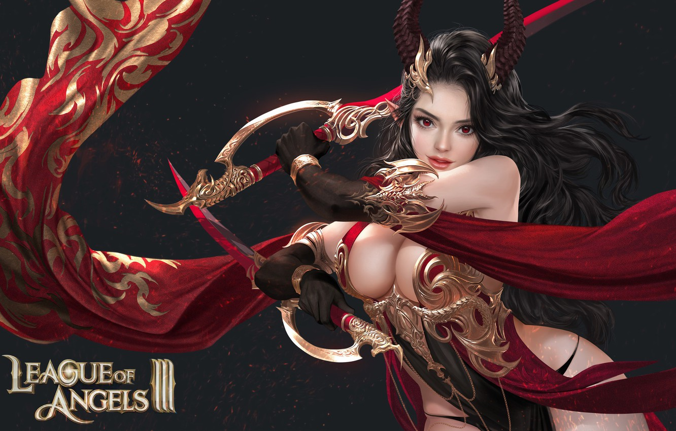Photo wallpaper the game, fantasy, art, Solar interference signal, costume design, League of Angels 3