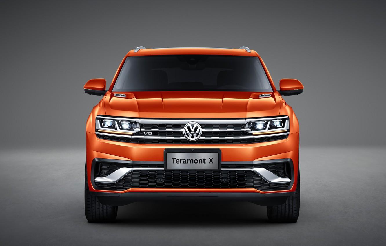 Photo wallpaper Volkswagen, front view, crossover, Atlas, 2019, Teramont X