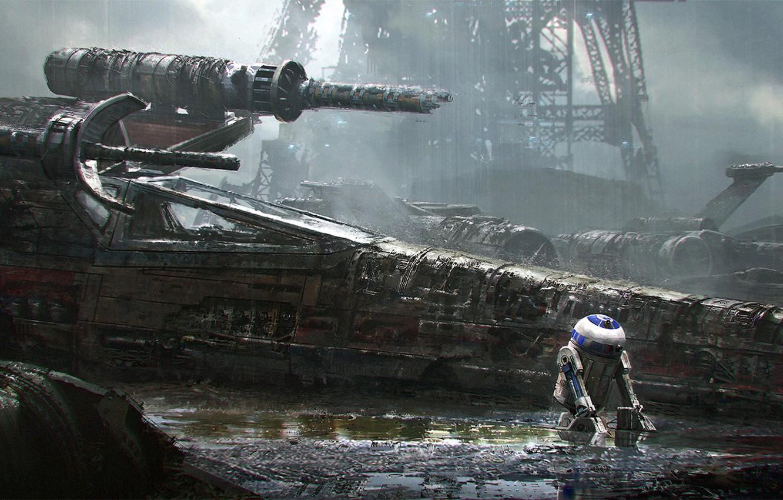 Photo wallpaper Star Wars, star wars, R2-D2, Sci-Fi, X-wing, emmanuel shiu, Star fighter T-65 X-wing, astromechanics droid, ...