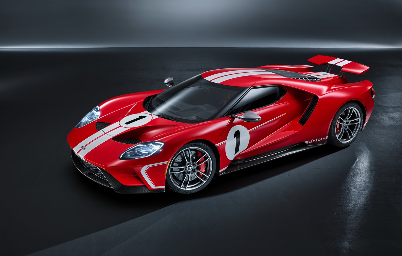 Photo wallpaper Ford, supercar, Ford GT, 2018, 67 Heritage Edition