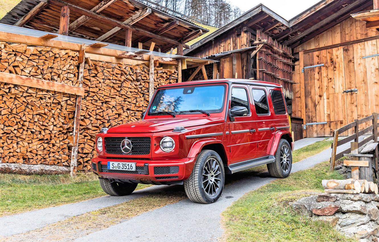Photo wallpaper Mercedes-Benz, G-Class, AMG Line, 2019, Mercedes-Benz G 350 d AMG Line, 350 d