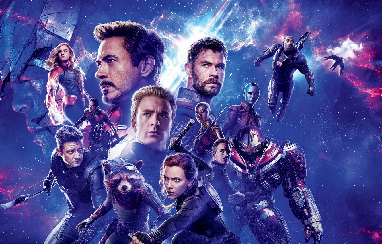 Photo wallpaper space, background, fiction, Scarlett Johansson, Scarlett Johansson, Hulk, poster, characters, Nebula, Iron Man, comic, Captain …