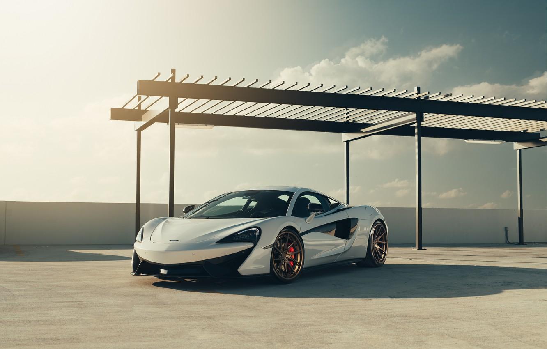 Photo wallpaper McLaren, White, Supercar, 570S, Velos