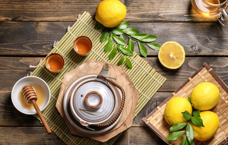 Wallpaper Lemon Tea Honey Drink Mint Images For Desktop